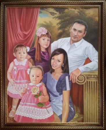 Семейный портрет маслом в Кишеневе — правильная традиция…
