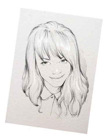Подарок лучшей подруге, портрет карандашом