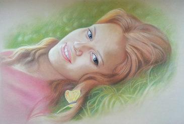 Настоящий портрет пастелью для любимой девушки в Кишеневе, просто и со вкусом!