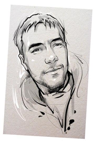 Портрет карандашом любимому мужу в Кишеневе…