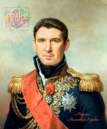 Портрет по фото на холсте в подарок мужчине на 23 февраля Кишенев