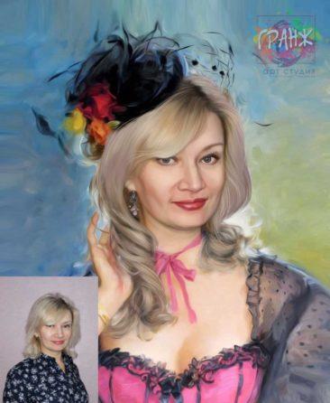 Заказать арт портрет по фото на холсте в Кишеневе
