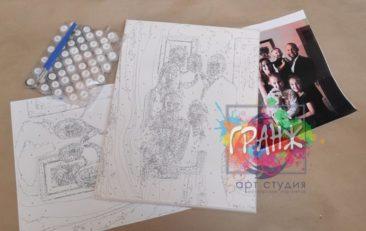 Картина по номерам по фото, портреты на холсте и дереве в Кишеневе